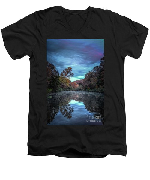 Early Morning Reflection Men's V-Neck T-Shirt
