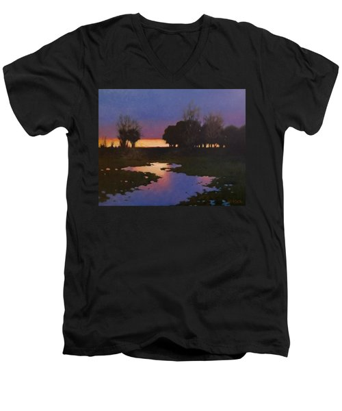 Early Morning Rice Fields Men's V-Neck T-Shirt