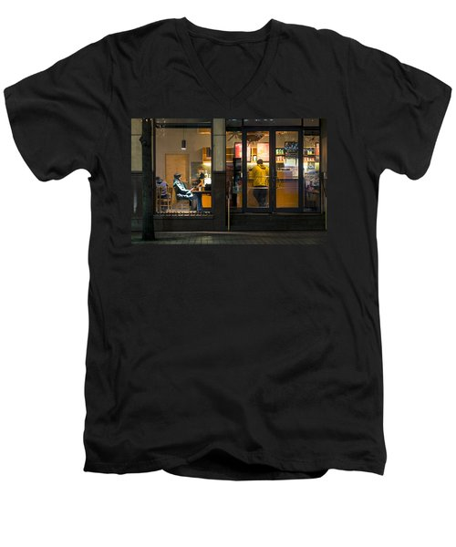 Early Morning Ritual Men's V-Neck T-Shirt