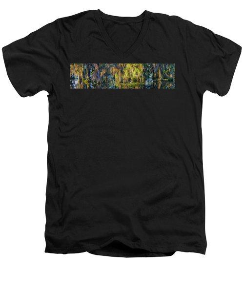 Early Morning Swampscape Men's V-Neck T-Shirt