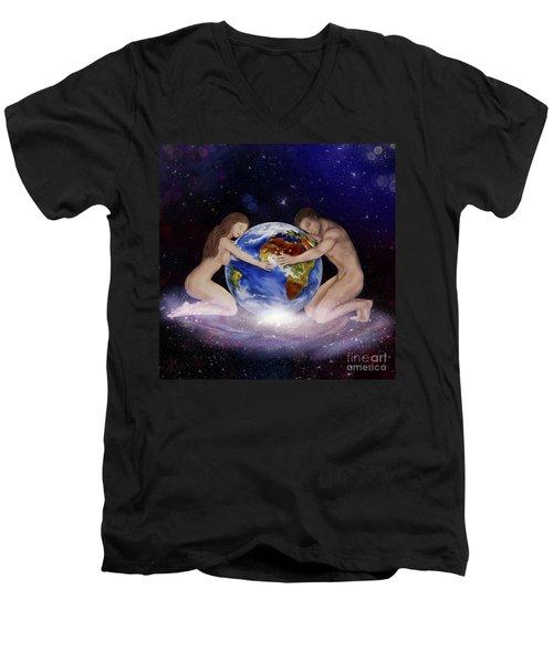 Earth Child Men's V-Neck T-Shirt