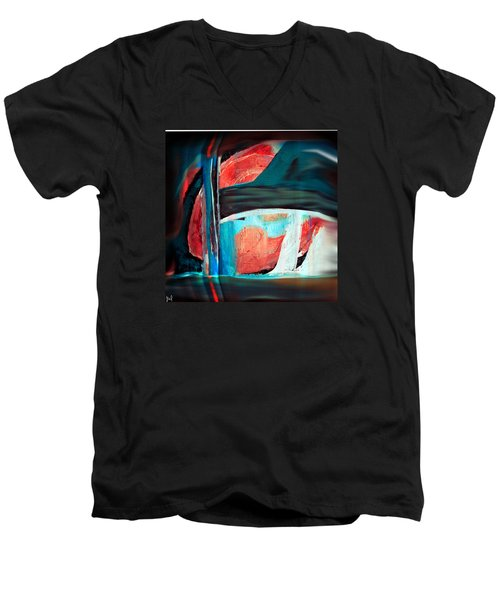 Men's V-Neck T-Shirt featuring the digital art Contrast And Concept by Yul Olaivar