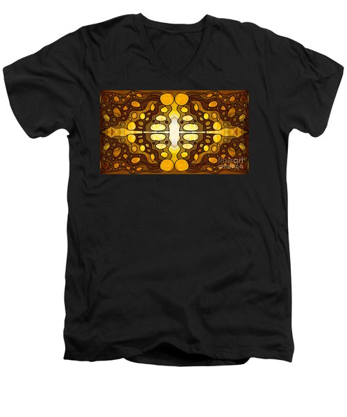 Earthly Awareness Abstract Organic Artwork By Omaste Witkowski Men's V-Neck T-Shirt