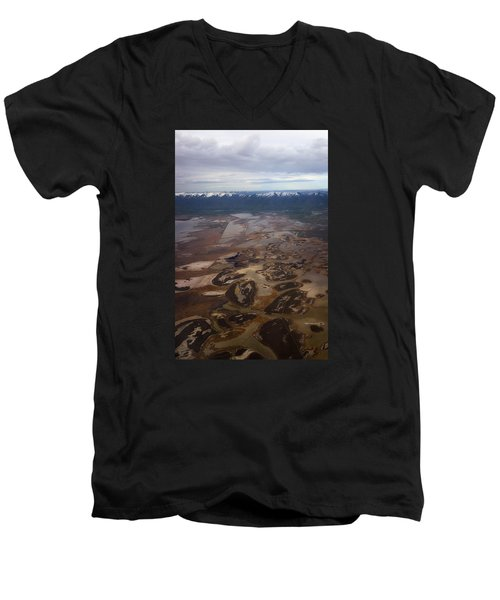 Men's V-Neck T-Shirt featuring the photograph Earth's Kidneys by Ryan Manuel