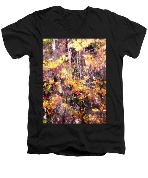 Earthy Water Men's V-Neck T-Shirt by Melissa Stoudt