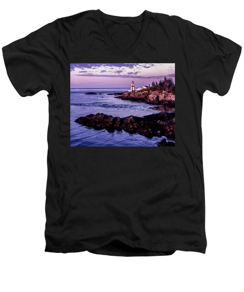 East Quoddy Head, Canada Men's V-Neck T-Shirt