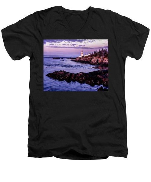 East Quoddy Head, Canada Men's V-Neck T-Shirt