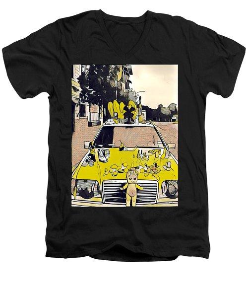 East Side Electric Men's V-Neck T-Shirt