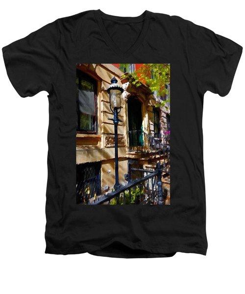 East Village New York Townhouse Men's V-Neck T-Shirt