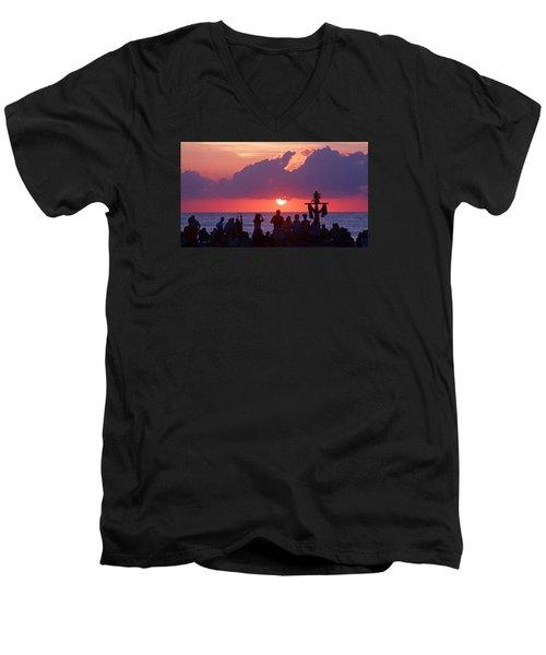 Easter Sunrise Beach Service Men's V-Neck T-Shirt