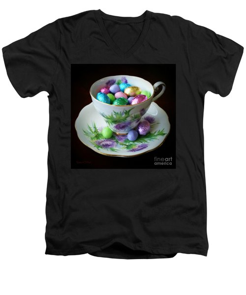 Easter Teacup Men's V-Neck T-Shirt