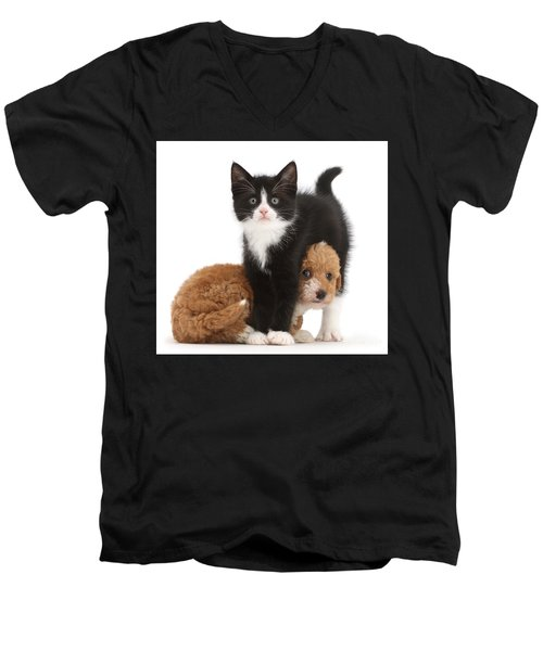 Easy To See Which One Of Us Is The Boss Men's V-Neck T-Shirt