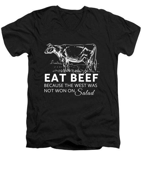 Eat Beef Men's V-Neck T-Shirt