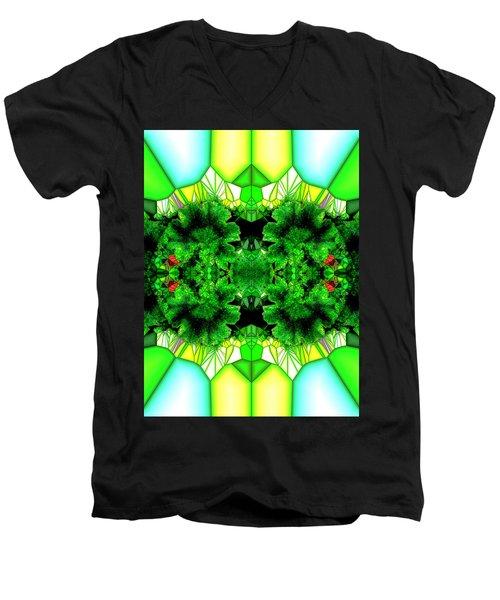 Eat Your Greens Men's V-Neck T-Shirt