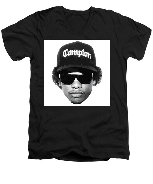 3ac4c6503 Men's V-Neck T-Shirt featuring the digital art Eazy E by Trill Art