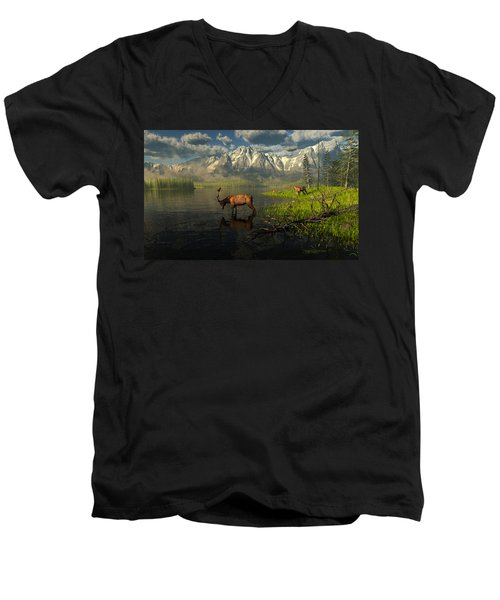 Echoes Of A Lost Frontier Men's V-Neck T-Shirt