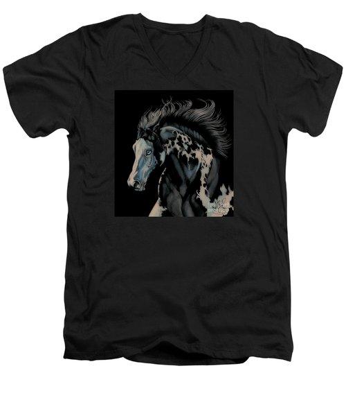 Eclipse's Full Moon Men's V-Neck T-Shirt by Cheryl Poland