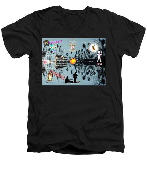 Ecstasy Men's V-Neck T-Shirt