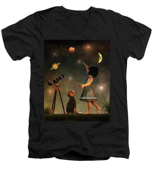 Educating Astronomy Men's V-Neck T-Shirt