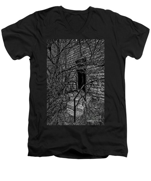 Eerie Entrance To An Old School Men's V-Neck T-Shirt