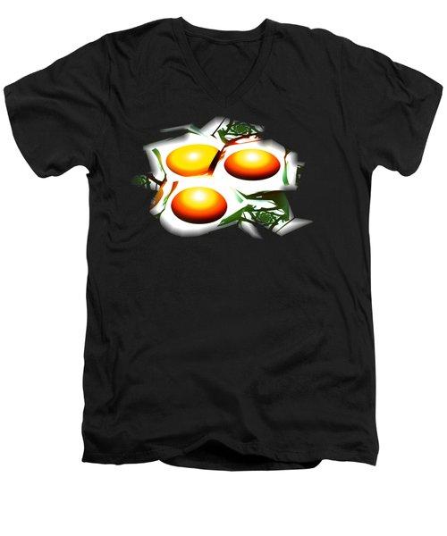 Eggs For Breakfast Men's V-Neck T-Shirt by Anastasiya Malakhova