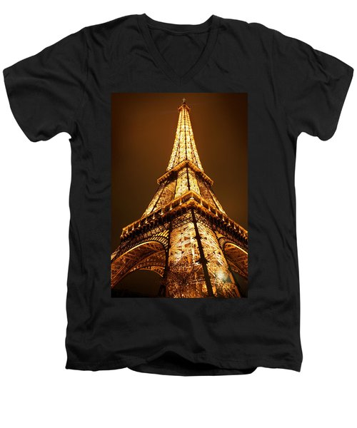Eiffel Men's V-Neck T-Shirt