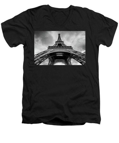 Eiffel Tower 4 Men's V-Neck T-Shirt