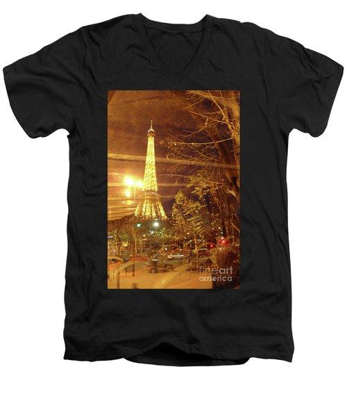 Eiffel Tower By Bus Tour Men's V-Neck T-Shirt