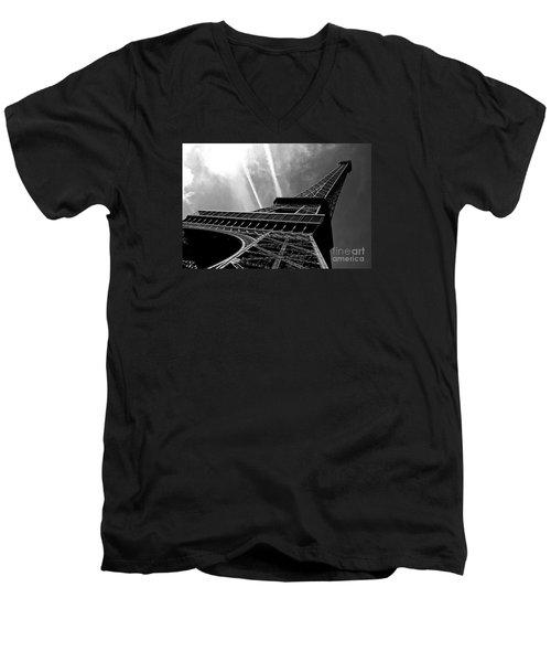 Eiffel Tower Men's V-Neck T-Shirt by M G Whittingham