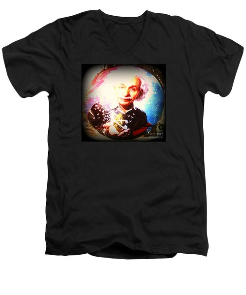 Einstein On Pot Men's V-Neck T-Shirt