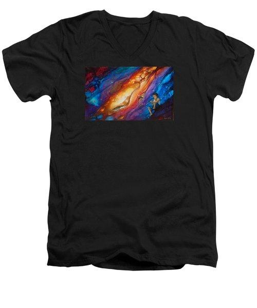 El Flautista Men's V-Neck T-Shirt