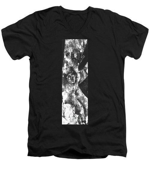 Elder Men's V-Neck T-Shirt by Carol Rashawnna Williams