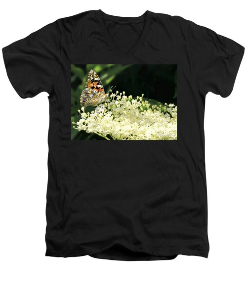 Elderflower And Butterfly Men's V-Neck T-Shirt