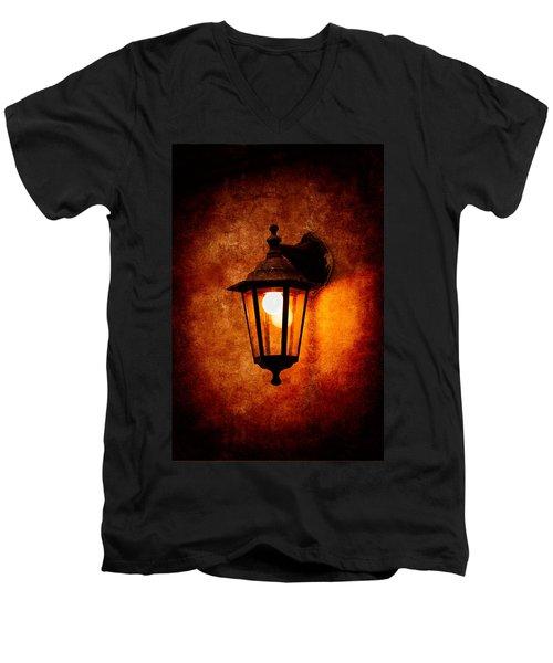 Men's V-Neck T-Shirt featuring the photograph Electrical Light by Alexander Senin