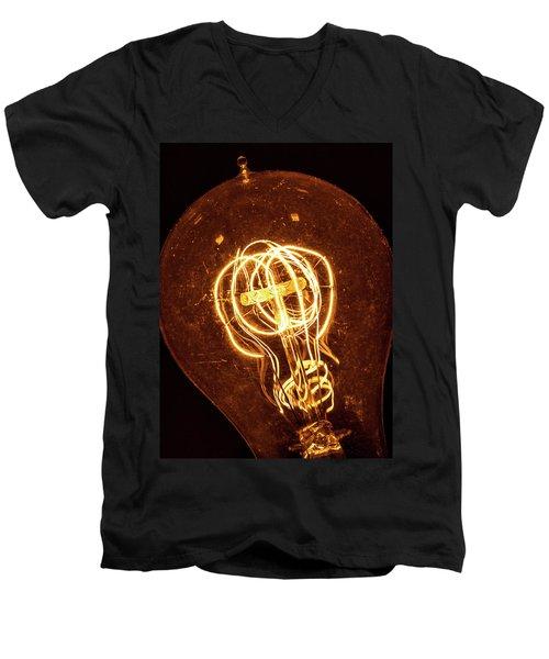 Electricity Through Tungsten Men's V-Neck T-Shirt