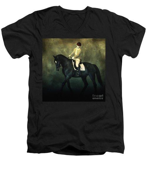 Elegant Horse Rider Men's V-Neck T-Shirt