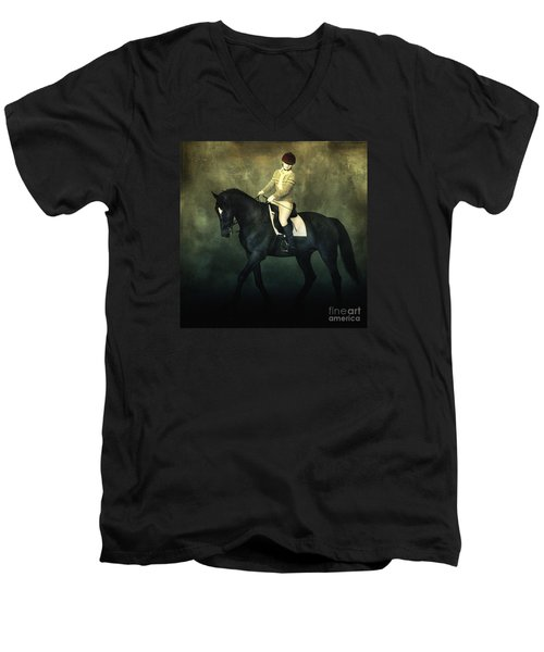 Elegant Horse Rider Men's V-Neck T-Shirt