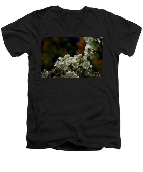 Men's V-Neck T-Shirt featuring the photograph Elegantly White by Vicki Pelham