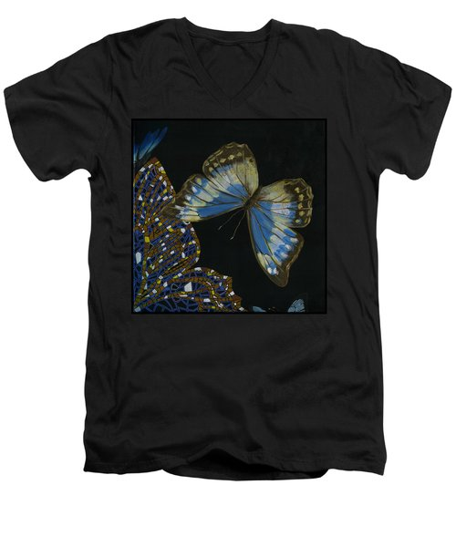 Elena Yakubovich - Butterfly 2x2 Top Right Corner Men's V-Neck T-Shirt by Elena Yakubovich
