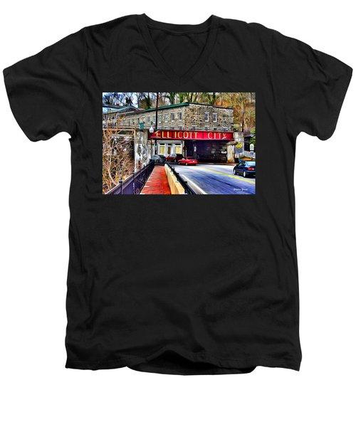 Ellicott City Men's V-Neck T-Shirt by Stephen Younts