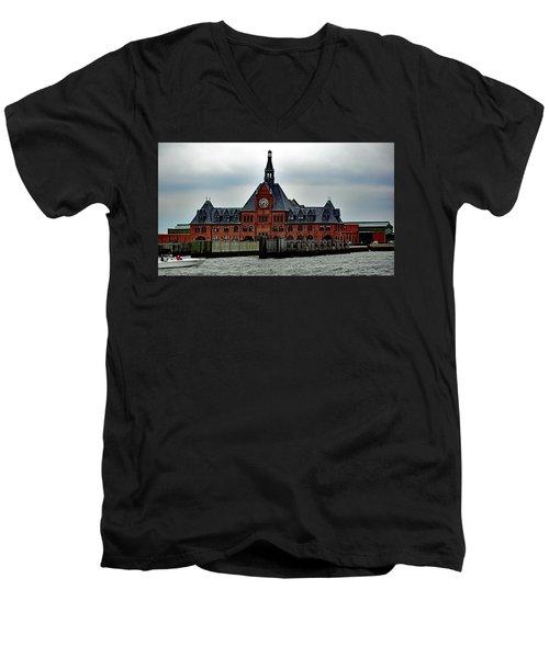 Communipaw Terminal No. 49 Men's V-Neck T-Shirt