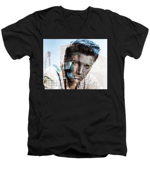 Elvis Presley Sun Studio Collection Men's V-Neck T-Shirt