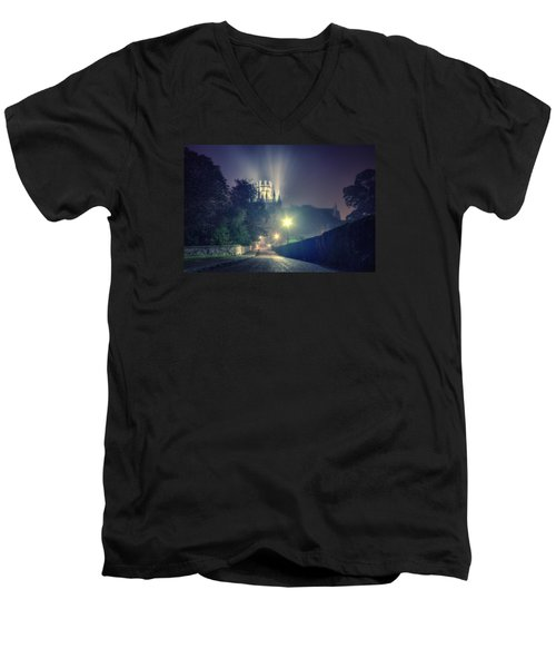 Ely Cathedral - Night Men's V-Neck T-Shirt
