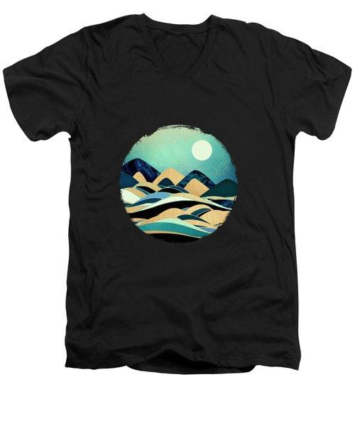 Emerald Evening Men's V-Neck T-Shirt