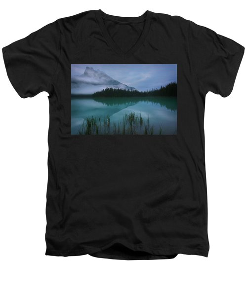 Emerald Lake Before Sunrise Men's V-Neck T-Shirt