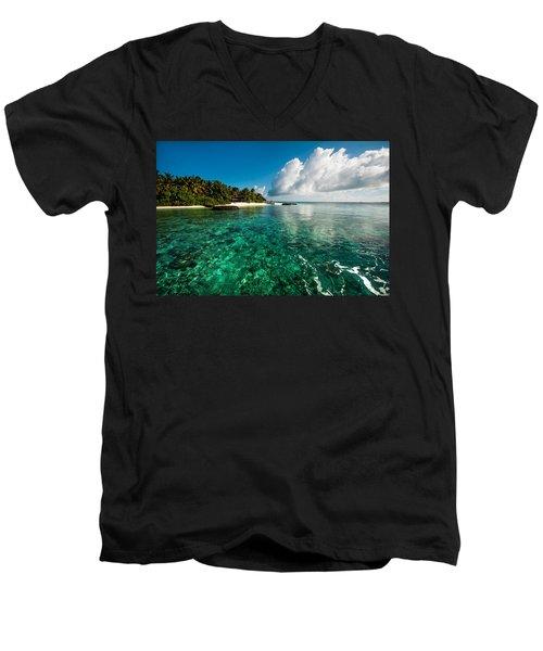 Emerald Purity. Maldives Men's V-Neck T-Shirt