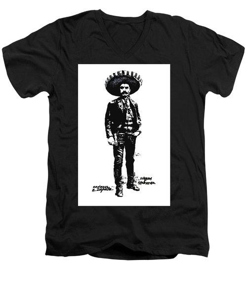 Emiliano Zapata Men's V-Neck T-Shirt