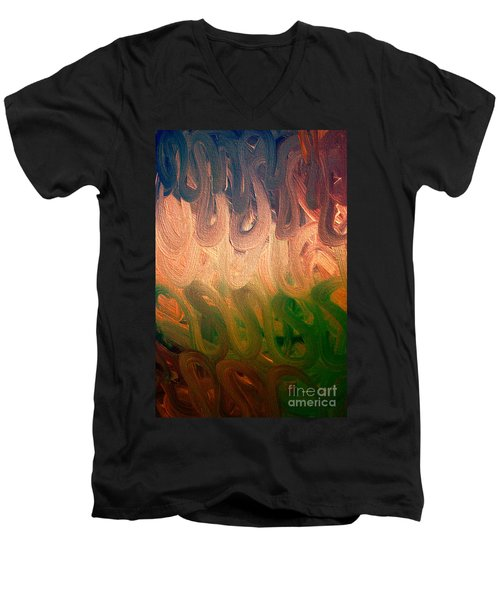 Emotion Acrylic Abstract Men's V-Neck T-Shirt