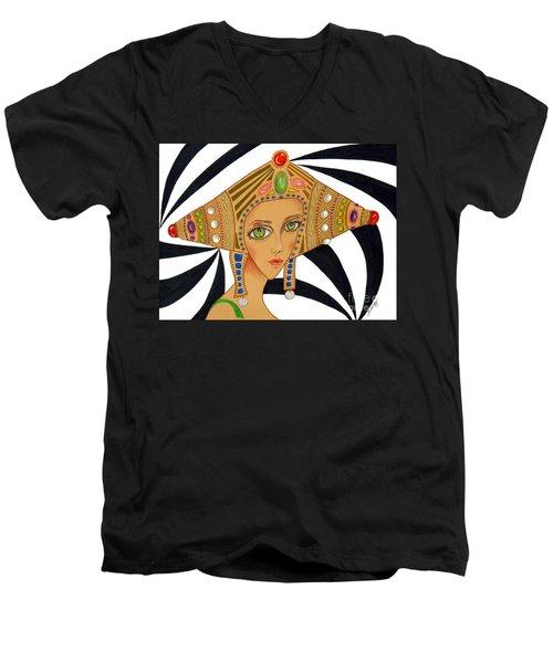Empress Exotica -- Whimsical Exotic Woman Men's V-Neck T-Shirt