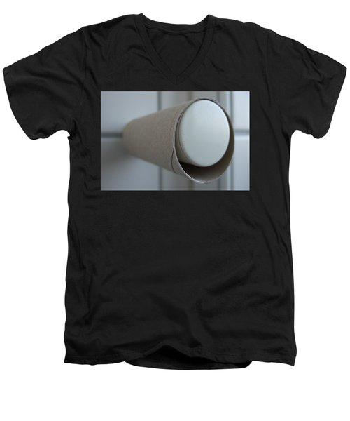 Empty Toilet Paper Roll Men's V-Neck T-Shirt
